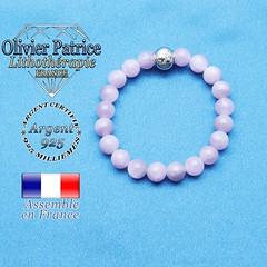 Bracelet kunzite et son signe astrologique en argent 925 (olivierpatrice) Tags: