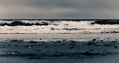 Sky_Sea_Sand (joshdgeorge7) Tags: cornwall cornish coast costline sky sand sea seascape sandy beaches cove polperro waves crashing shoreline shore south west landscape canon m10 skyline layers black white monochrome grey summer