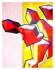 Cuby (no Blizzards) (leo.roos) Tags: straatkunst streetart muurschildering wallart mural muralism kijkduin winkelcentrum shoppingmall shoppingcentre sloop demolition graffiti thsa thehaguestreetart sonye arty a7 helios44582 kmz 1958 m39 russianlenses sovietglass darosa leoroos graphitti grafitti graphiti jillmartens shake streetartcity winkelpromenadekijkduin