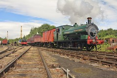 GWR 0-6-0ST No. 813 (As No. 12) - Tanfield Railway - 15th June 2019 (allan5819 (Allan McKever)) Tags: tanfieldrailway steam gala legendsofindustry event line preserved heritage loco locomotive engine gwr 813 060st green marleyhill shed depot travel transport rail railway england uk northeast