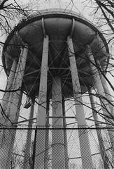 Watertower (MegElizabethThomas) Tags: black white water tower watertower film scan pittsburgh pa hilltop