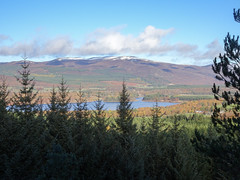 , 2018 Nov 01 (Dunnock_D) Tags: britain gb highland highlands lochinsh scotland uk uath unitedkingdom blue clouds forest loch sky trees white woodland woods kingussie