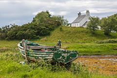 Just Needs a Bit of Paint (Mac ind Óg) Tags: summer abandoned scotland landscape dinghy boat green walking àrasaig lochaber highland holiday arisaig