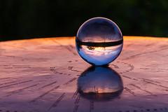 Crystal ball (stefan.bayer) Tags: sb crystal ball sphere kugel glass stuttgart birkenkopf trümmerberg trümmer 0711 birken kopf blue blau