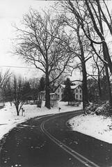 WinterHouse (MegElizabethThomas) Tags: black white film road winter farmhouse scan