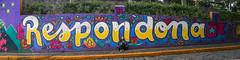 Respondona linda (Diego_Valdivia) Tags: respondona bajada barranco lima peru mural arte urbano urban art model beauty canon eos 60d