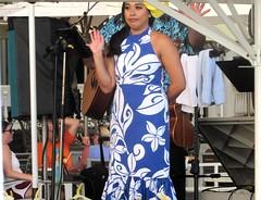 Aloha (thomasgorman1) Tags: singer dancer hawaiian hawaii oahu waikiki beach resort canon posing waving band music performer travel tourism woman candid streetphotos people audience performance