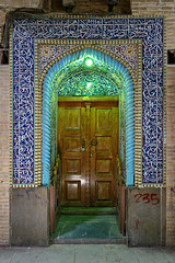 another door (freakingrabbit) Tags: ifttt 500px door bazaar kerman iran persia neon light blue frame old tile