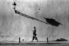 Shadows of Granada (pinterpi) Tags: leica m3 leicam 50mm summicron black blackandwhite blackandwhiteisworththefight fuji acros spain granada girl wall sunshine shadow