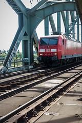 145 046 freighttrain (ralf_hewing) Tags: train br 145 rot bridge brücke güterzug canon 80d railroad metal konstruktion verkehr traffic