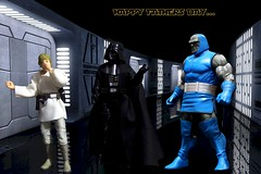 Happy Father's Day 2019! (MayorPaprika) Tags: canoneos50d ef28135mmf3556isusm 112 toy story paprihaven action figure diorama set custom starwars black series lukeskywalker darthvader dcuc dcuniverseclassics cnc baf darkseid collectnconnect buildafigure mattel hasbro deathstar fathers day 2019