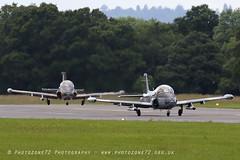 0669 Strikemaster Pair (photozone72) Tags: strikemaster strikedisplay classicjet wingswheels dunsfold dunsfoldpark aviation aircraft airshows airshow canon canon7dmk2 canon100400f4556lii 7dmk2
