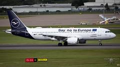 D-AIZG A320 DLH (John Mason 2019) Tags: bhx daizg egbb a320 dlh lufthansa angela merkel brexit