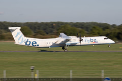 G-JECK - Bombardier DHC-8-402 [4113] - Flybe - EGHI / Southampton Airport - 8 August 2018 (Leezpics) Tags: dhc8 flybe aviation bombardier gjeck aircraftspotting eghi dash8 airliners southamptonairport planespotting commercialaircraft 21august2018 sou