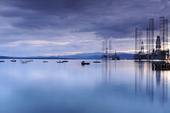 D3X_8745 (dolphinpix) Tags: cromarty oil rig oilrig night scotland sea still platform peace peaceful dark late evening water ocean harbour boat ship britain greatbritain filter long peter peterasprey dolphinpix magic twilight blackisle black grey blue