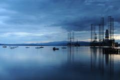 D3X_8744 (dolphinpix) Tags: cromarty oil rig oilrig night scotland sea still platform peace peaceful dark late evening water ocean harbour boat ship britain greatbritain filter long peter peterasprey dolphinpix magic twilight blackisle black grey blue