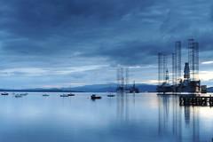 D3X_8741 (dolphinpix) Tags: cromarty oil rig oilrig night scotland sea still platform peace peaceful dark late evening water ocean harbour boat ship britain greatbritain filter long peter peterasprey dolphinpix magic twilight blackisle black grey blue