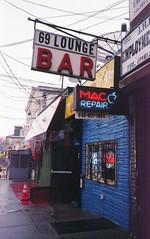 (David Chee) Tags: canon new sure shot af35m ii autoboy 2 kodak ultramax 400 newyork nyc queens woodside 69 lounge bar street film analog