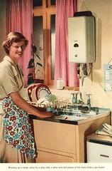 Washing up made easier with a sink, plate rack and Ewart gas water heater (growlerthecat) Tags: gascouncil gaswaterheaters hotwater ewart