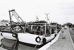 Boats (goodfella2459) Tags: nikonf4 afnikkor24mmf28dlens kodaktrix400 35mm blackandwhite film analog rimini italy boats water bwfp manilovefilm