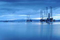 D3X_8795 (dolphinpix) Tags: cromarty oil rig oilrig night scotland sea still platform peace peaceful dark late evening water ocean harbour boat ship britain greatbritain filter long peter peterasprey dolphinpix magic twilight blackisle black grey blue