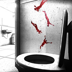 drown together (Rakkhive) Tags: superhot gamephotography screenarchery reshade minimalistic minimal toilet drown