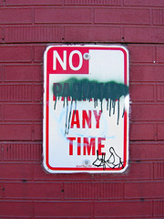 00002_No_Parking_Street_Art_Sign_Georgetown_Seattle (Lather and Froth) Tags: text