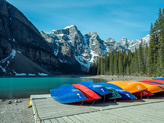 untitled (85 of 94).jpg (jester821) Tags: familyvacation canadianrockies canada mountains canoes banff morainelake
