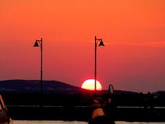 Naxos Sunset (dimaruss34) Tags: newyork brooklyn dmitriyfomenko image greece naxos sky skyline clouds sunset mountains lampposts