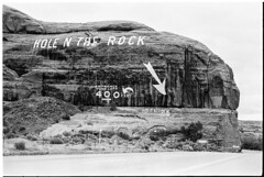 34_Hole_N_The_Rock_Sign_Utah (Lather and Froth) Tags: text