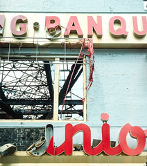 10R_Junior_s_Sign_After_The_Fire_Brooklyn_New_York_City (Lather and Froth) Tags: text
