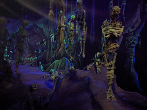 Skeletons 5, Indiana Jones with the lights on, Disneyland, Anaheim, California