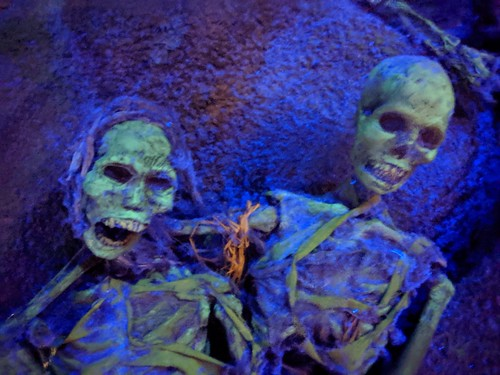 Skeletons  2 2, Indiana Jones with the lights on, Disneyland, Anaheim, California