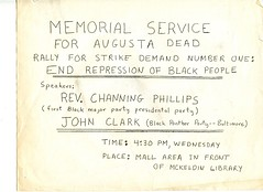 Remember the Augusta Six: May 1970 (Washington Area Spark) Tags: university maryland college park student strike anti vietnam war augusta six black aflrican american slain police memorial rally 1970 channing phillips john clark