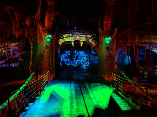 Fang doorway, Indiana Jones with the lights on, Disneyland, Anaheim, California