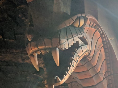 Snake head, Indiana Jones with the lights on, Disneyland, Anaheim, California