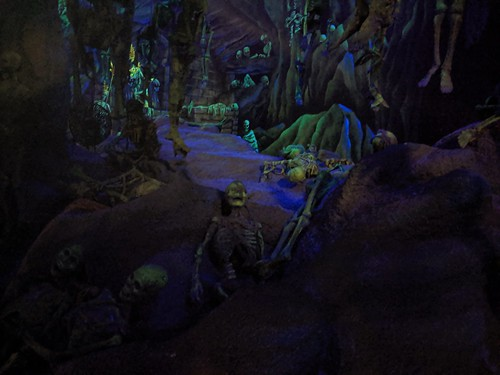 Skeletons 6, Indiana Jones with the lights on, Disneyland, Anaheim, California