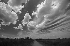 Clouds over the wetlands (pdecell) Tags: lawrence kansas clouds summer weather bakerwetlands