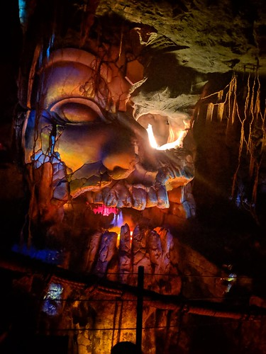 Idol head 2, Indiana Jones with the lights on, Disneyland, Anaheim, California