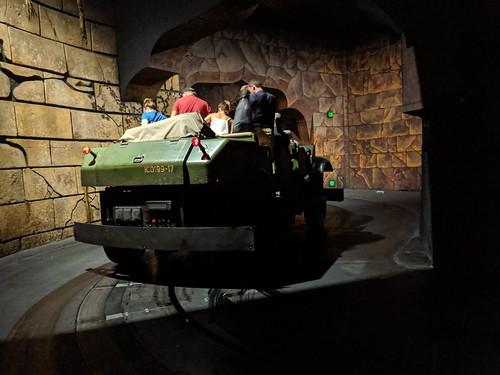 Jeep, Indiana Jones with the lights on, Disneyland, Anaheim, California
