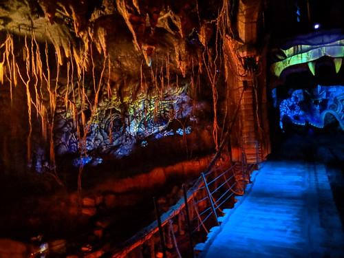 Bridge, Indiana Jones with the lights on, Disneyland, Anaheim, California
