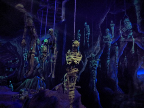 Skeletons 3, Indiana Jones with the lights on, Disneyland, Anaheim, California