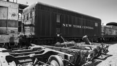 New York Central Relic (trainmann1) Tags: nikon d7200 amateur handheld scranton pa pennsylvania steamtown nationalhistoricsite nationalparkservice nationalpark park museum trainmuseum train trains rail rails railroad historic antique relic rusty crusty americanrailroadmuseum railroadmuseum landmark eastcoast blackwhite blackandwhite bw desaturated tender newyorkcentral trucks wheels