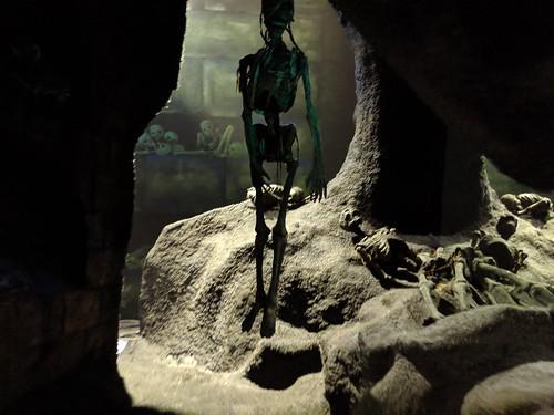 Skeletons 2, Indiana Jones with the lights on, Disneyland, Anaheim, California