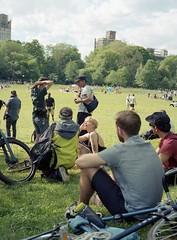 Film Camera Gathering in Prospect Park (triebensee) Tags: bronicarf645 zenzanon 65mm f4 kodakportra400 selfdeveloped tetenal c41 film epsonv700 brooklyn