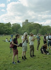 Film Camera Gathering in Prospect Park (triebensee) Tags: bronicarf645 zenzanon 65mm f4 kodakportra400 selfdeveloped tetenal c41 film epsonv700 brooklyn