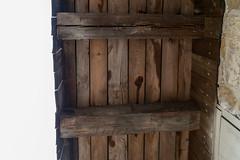 Forebay Framing, Chamberlin Barn — Bethel Township, Clark County, Ohio (Pythaglio) Tags: ohio unitedstatesofamerica springfield building barn bank structure historic chamberlin agriculture outbuilding relocated clarkcounty forebay georgerogersclarkpark dutchdoors betheltownship pennsylvaniabarn threebay verticalboards divideddoors