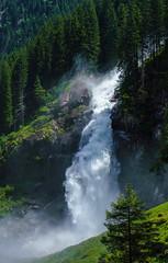 Gewaltig (KaAuenwasser) Tags: krimmlerwasserfälle wasserfall wasserfälle wasser felsen steine berge alpen berg achenfall österreich gletscherbach wald baum bäume mensch besucher fall sonne sonnig licht schatten natur