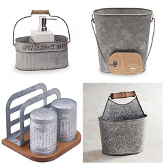 Galvanized Kitchen &/or Bath (Heath & the B.L.T. boys) Tags: galvanized metal bucket handle condiments