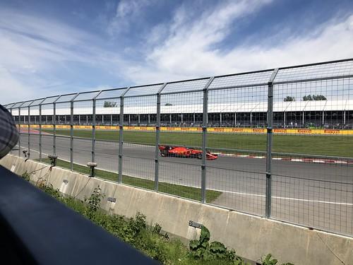 Sebastian Vettel goes by in his Ferrari
